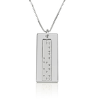 Vertical Braille Necklace - Thumb