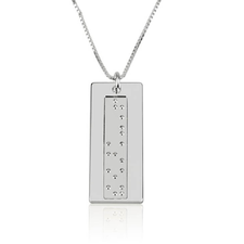 Collar Vertical en Braille