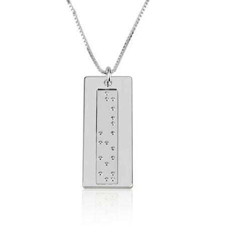 Vertical Braille Necklace