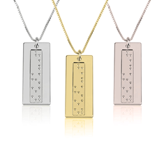 Vertical Braille Necklace