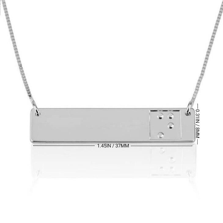Braille Bar Necklace - Information