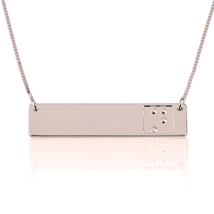 Braille Bar Necklace