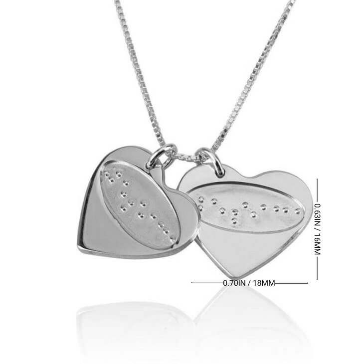 I Love You in Braille Heart Necklace - Information