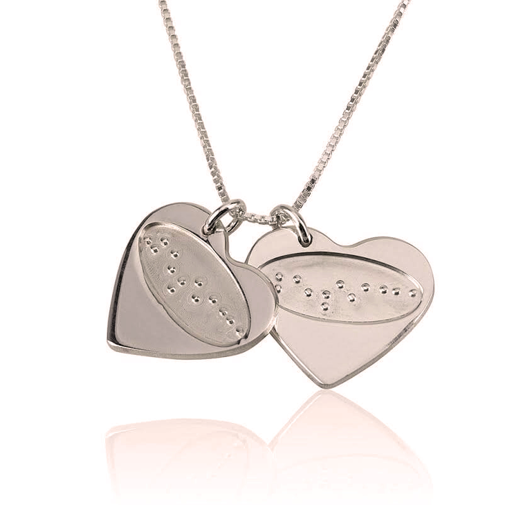 I Love You in Braille Heart Necklace