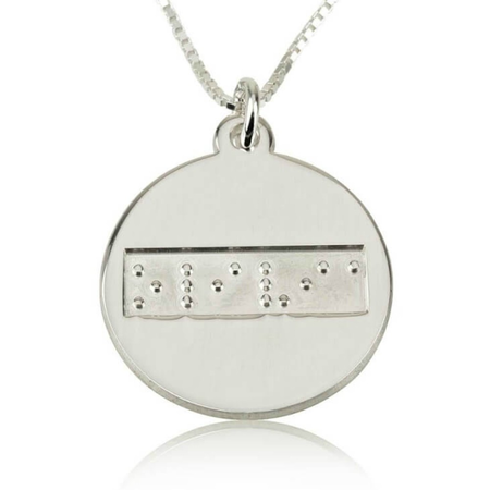 Braille Disc Necklace