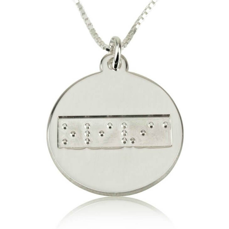 Collar de Disco en Braille