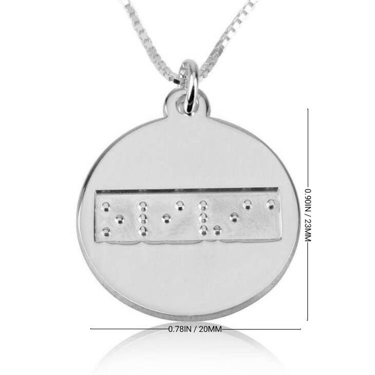 Braille Disc Necklace - Information