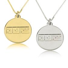 Collier Prénom avec Gravure Braille