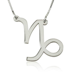 Capricorn Zodiac Necklace - Thumb