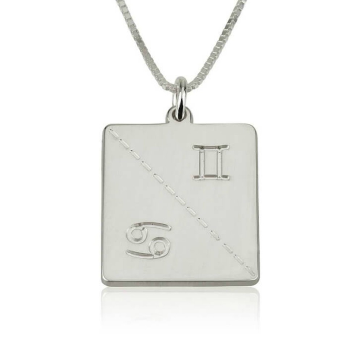 Engraved Zodiac Necklace - Picture 2
