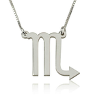 Scorpio Zodiac Necklace - Thumb