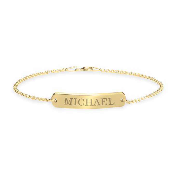 Classic Name Bar Bracelet