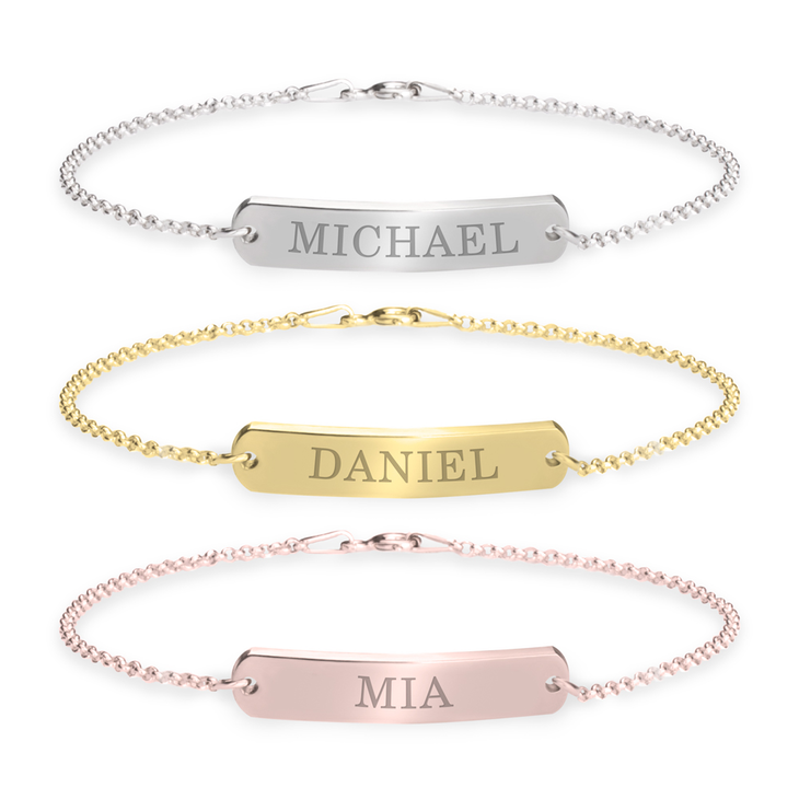 your same cdt gift til day personalized gold amazon bracelet bar dp shipping name com