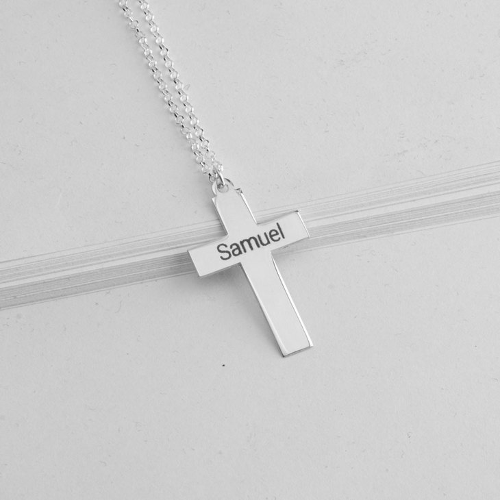 Cross Name Necklace - Model
