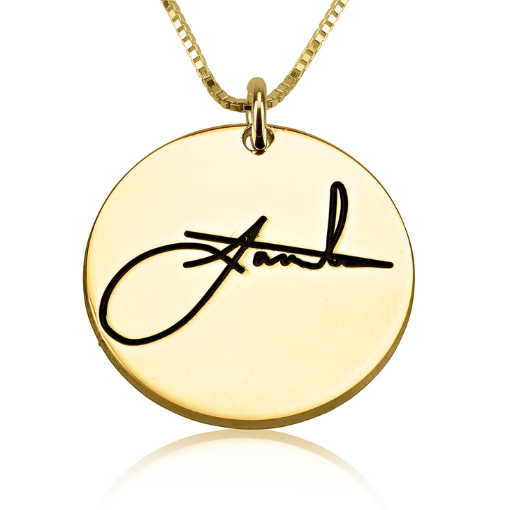 Necklace With Signature Engraved