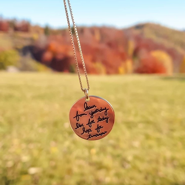 Circle Signature Necklace - Model