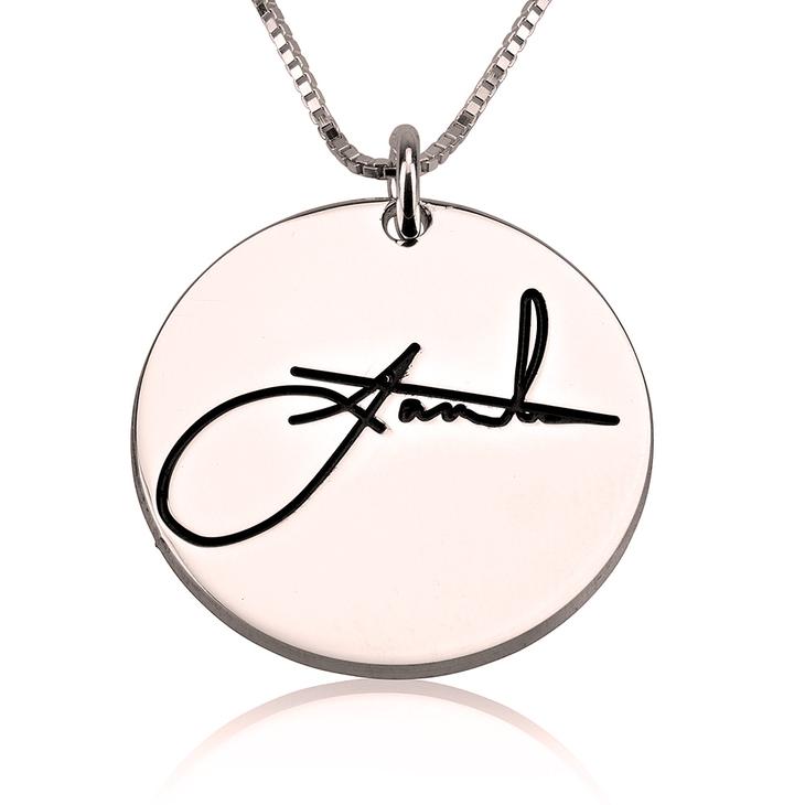 Circle Signature Necklace