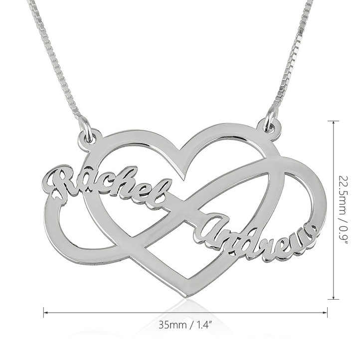 Infinity Heart Necklace - Information