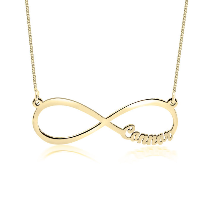 Infinity Necklace with Names - Picture 2