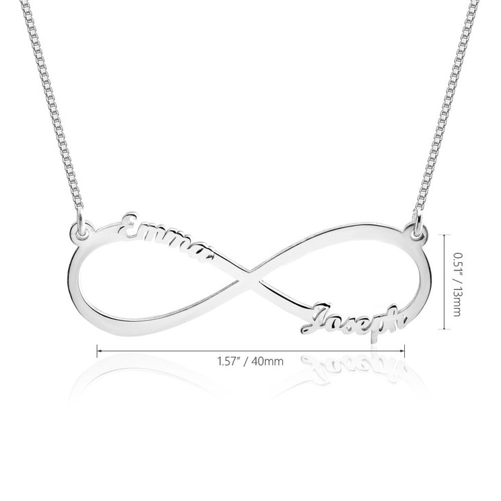 Infinity Necklace with Names - Information