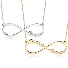 Infinity Necklace with Names