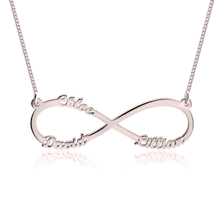 Infinity Necklace with Names - Picture 3