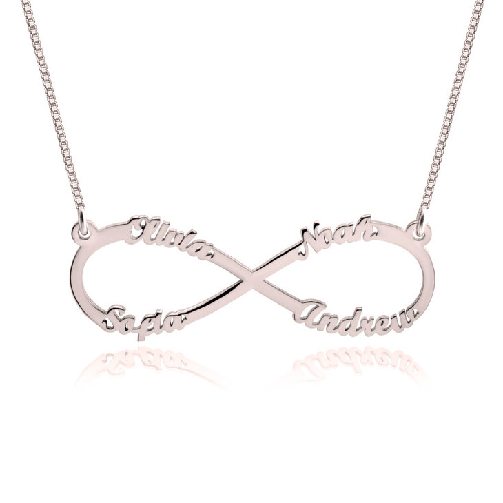 Infinity Necklace with Names - Picture 4