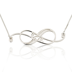 Swirly Initial Infinity Necklace - Thumb