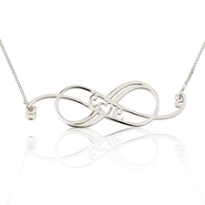 Swirly Initial Infinity Necklace