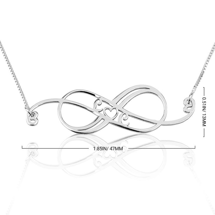 Swirly Initial Infinity Necklace - Information