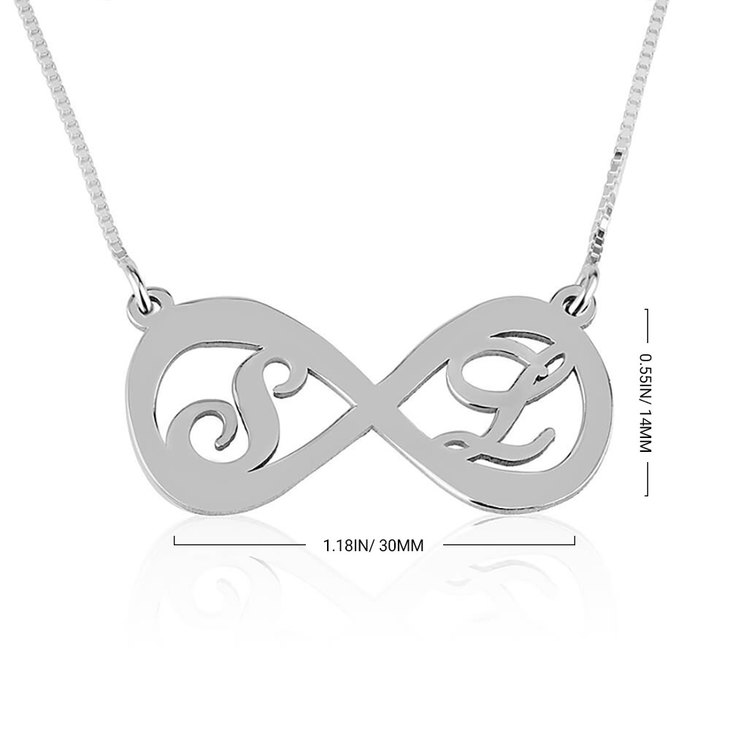 Two Letters Infinity Necklace - Information