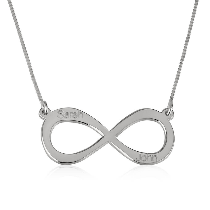 Infinity Necklace with Two Names