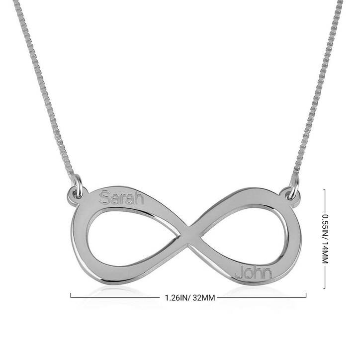 Infinity Necklace with Two Names - Information