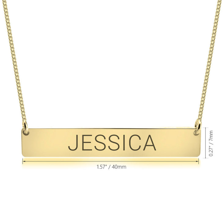 Personalized Bar Necklace - Information