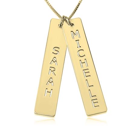 Vertical Double Bar Necklace