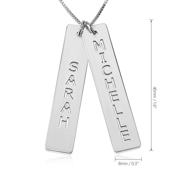 Vertical Double Bar Necklace - Information