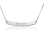 Curved Bar Necklace with Name - Thumb
