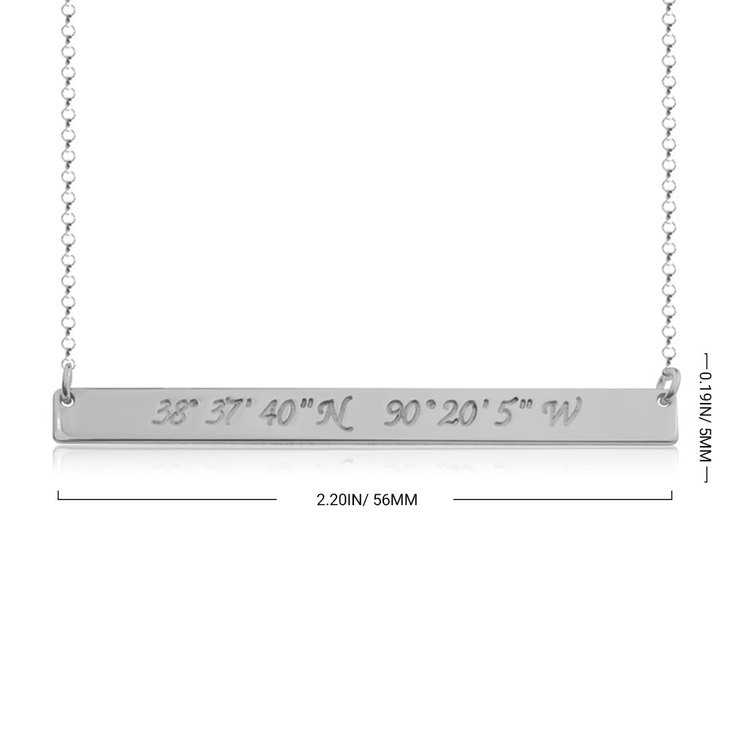 Coordinate Bar Necklace - Information