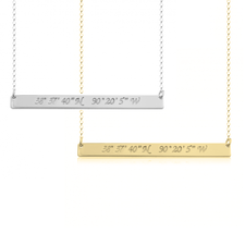 Coordinate Bar Necklace