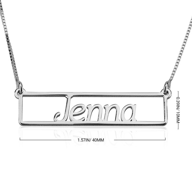 Name Bar Necklace - Information