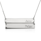 Double Bar Necklace - Thumb