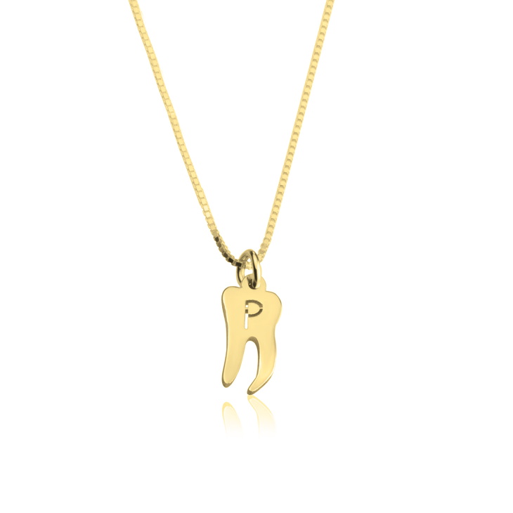 Tooth Fairy Initial Necklace