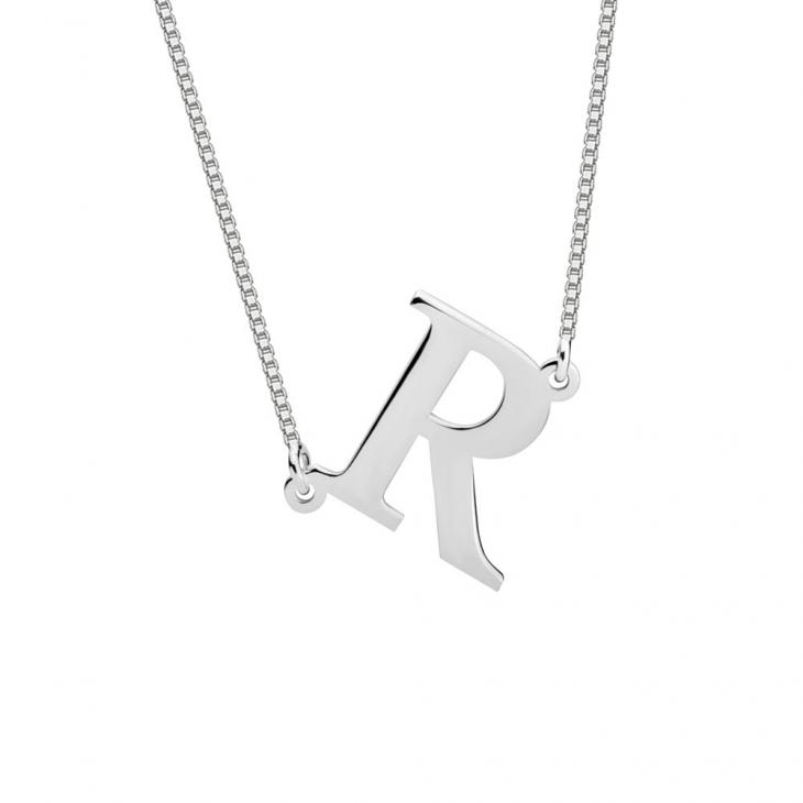 Sideways Initial Necklace  - Picture 2