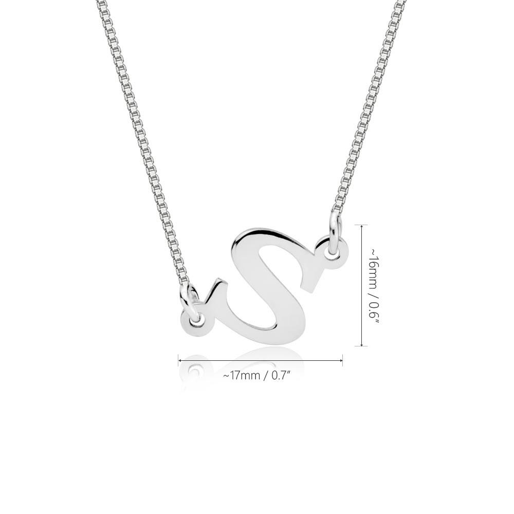 Sideways Initial Necklace - Information