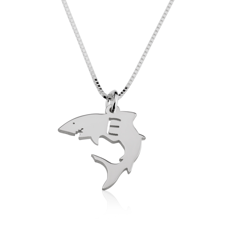 Shark Initial Necklace