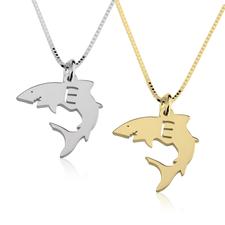 Collier Petit Requin avec Initiale