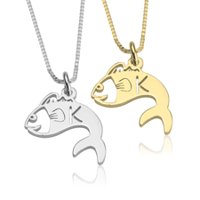 Fish Initial Necklace