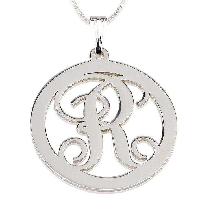 Circle Initial Necklace