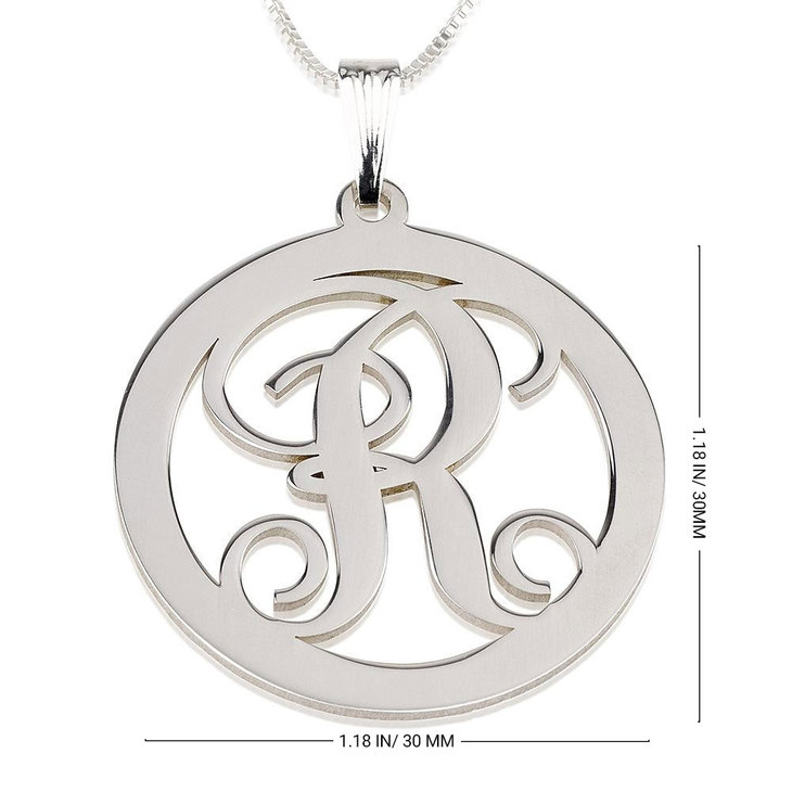 Circle Initial Necklace - Information
