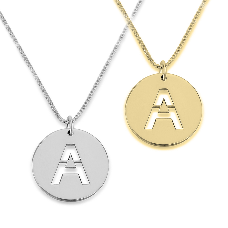 yellow initial auree jewellery gold disc pendant westbourne engraved with necklace